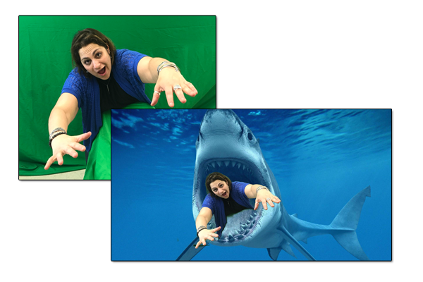 Example of Green Screen Special Effects Project within after school program with kDynamics